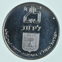 SILVER   WORLD COIN   1977 ISRAEL 25 LIROT   WORLD SILVER CO