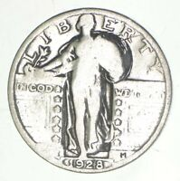 25C   1928 STANDING LIBERTY QUARTER   90  SILVER  468