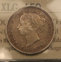 1890H CANADA 10 CENTS SILVER. ICCS VF30.