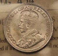 1920 CANADA SILVER 10 CENTS. MS 63 ICCS CHOICE UNCIRCULATED.