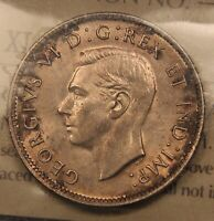 1941 CANADA SILVER 25 CENTS ICCS MS65 GEM UNCIRCULATED.