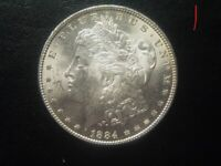 ONE 1 1884 MORGAN SILVER DOLLAR BU BRILLIANT UNCIRCULATED 3 AVAILABLE