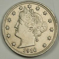 1910 LIBERTY NICKEL.   A.U.  139286