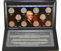 FIRST COMMEMORATIVE MINT 1938   1947 FIRST 10 JEFFERSON NICKEL COLLECTION
