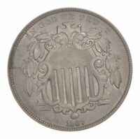 1867 SHIELD NICKEL - RAYS 4777