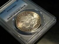 1881-S MORGAN SILVER DOLLAR PCGS MINT STATE 64 SOME LIGHT RIM TONING WITH A HINT OF BLUE