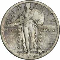 1919-D STANDING LIBERTY SILVER QUARTER VF UNCERTIFIED