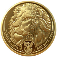 SDAFRIKA   50 RAND 2019   LWE   BIG FIVE SERIE  2.    1 OZ GOLD PP