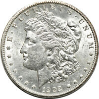 1902-S MORGAN DOLLAR, ABOUT UNCIRCULATED CLEANED, S$1 C00045316
