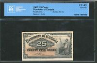 1900 DOMINION OF CANADA 25 CENTS. CCCS EF40. BOVILLE. DC 15B.