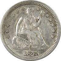 1845 5C LIBERTY SEATED SILVER HALF DIME US COIN XF EF LY FINE