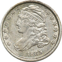 1835 CAPPED BUST DIME,  FINE CLEANED, SCRATCH 10C C00045044