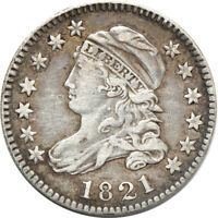 1821 LARGE DATE CAPPED BUST DIME,  FINE LIGHT WIPE 10C C00044534