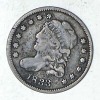 1833 CAPPED BUST HALF DIME - SHARP 9315