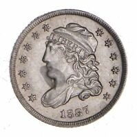 1837 CAPPED BUST HALF DIME - NEAR UNCIRCULATED 1149