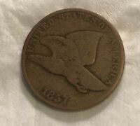 CIRCULATED SMALL FLYING EAGLE CENT 1857