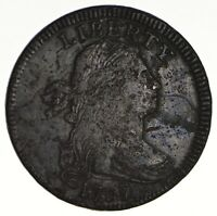 1797 DRAPED BUST LARGE CENT - CIRCULATED 1639