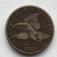 1858 FLYING EAGLE CIRCULATED CCC289