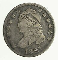 1821 CAPPED BUST DIME - CIRCULATED 4110