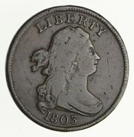 1803 DRAPED BUST HALF CENT - CIRCULATED 4039