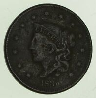 1836 YOUNG HEAD LARGE CENT - CIRCULATED 6444