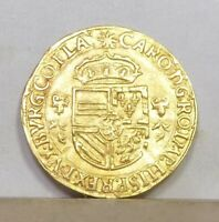 SPANISH NETHERLANDS GOLD COURONNE D'OR 1543 CHOICE LY FINE