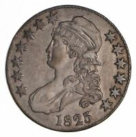1825 CAPPED BUST HALF DOLLAR - CIRCULATED 9034