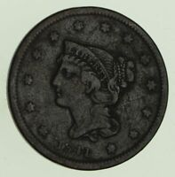 1841 BRAIDED HAIR LARGE CENT - CIRCULATED 8765