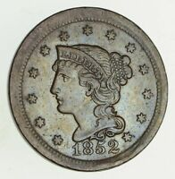 1852 BRAIDED HAIR LARGE CENT - CHOICE 9423