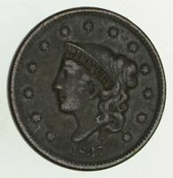 1837 YOUNG HEAD LARGE CENT - CIRCULATED 9517