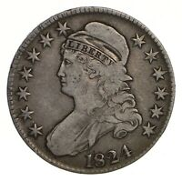 1824 CAPPED BUST HALF DOLLAR - CIRCULATED 2142