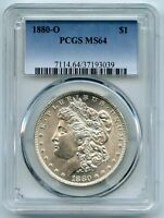 1880-O MORGAN SILVER DOLLAR PCGS MINT STATE 64 CERTIFIED - NEW ORLEANS MINT BD789
