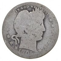 TOUGH   US 1905 BARBER SILVER QUARTER   90  SILVER   LOOK IT