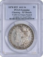 1878 8TF VAM 14.5 MORGAN SILVER DOLLAR OPEN NOSTRIL CLEANING - EF DETAILS PCGS