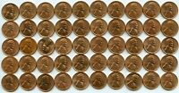 1942-D LINCOLN WHEAT CENT PENNY 1C ROLL OF 50 COINS - JD267
