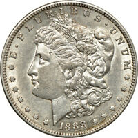 1888-S MORGAN DOLLAR, ABOUT UNCIRCULATED, S$1 C00046384
