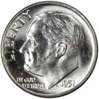 1951 ROOSEVELT DIME BU UNCIRCULATED MINT STATE 90  SILVER 10C US COIN