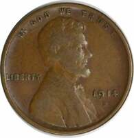 1914-D LINCOLN CENT, VF, UNCERTIFIED