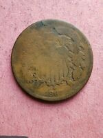 1867  2 CENT PIECE - .   REVERSE IN POOR CONDITION