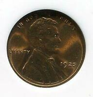 1925 | LINCOLN CENT | GEM BRILLIANT UNCIRCULATED | RED | WHEAT | COPPER | CP570