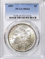 1899 $1 PCGS MINT STATE 64 - MORGAN SILVER DOLLAR TOUGHER DATE