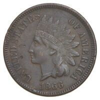 BETTER 1866   US INDIAN HEAD CENT PENNY   COIN COLLECTION LO