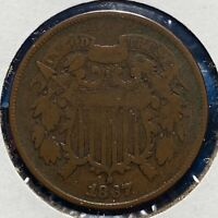 1867 2C TWO CENT PIECE 52053