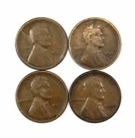 LOT OF 4 1923 S 1C LINCOLN WHEAT CENT PENNIES VG  GOOD 147120