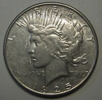 1925-S PEACE SILVER DOLLAR GRADING AU PRICED TO MOVE & SHIPPED FREE   E5