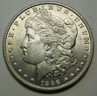 1896 MORGAN SILVER DOLLAR GRADING AU PRICED TO MOVE SHIPPED FREE  E17