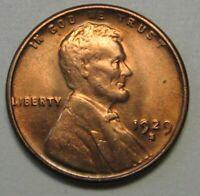 1929-S LINCOLN CENT GRADING SUPERB GEM BU ORIGINAL UNCLEANED RED SURFACES  E38