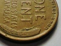 1937 P WHEAT  CENT REV  LAMINATION   ERROR  WITH PEEL  BRR37P