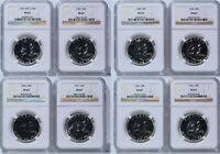1956 THROUGH 1963 PROOF FRANKLIN SILVER 50C 8 COIN LOT ALL N