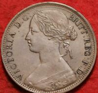 1862 GREAT BRITAIN ONE PENNY FOREIGN COIN